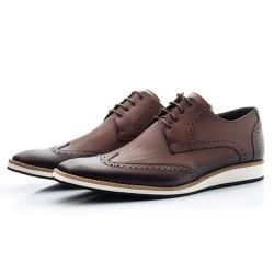 Sapato Oxford Masculino Casual Estonado Café - Top Franca Shoes   Calçados confortáveis em Couro