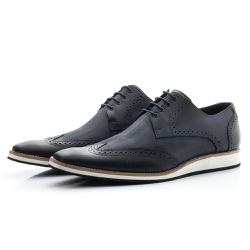 Sapato Oxford Masculino Casual Estonado Marinho - Top Franca Shoes | Calçados confortáveis em Couro