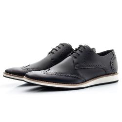 Sapato Oxford Masculino Esporte Fino Casual Preto - Top Franca Shoes | Calçados confortáveis em Couro