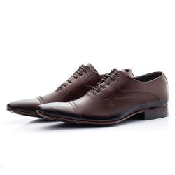 Sapato Clássico Masculino De Amarrar Mouro Solado ... - Top Franca Shoes | Calçados confortáveis em Couro