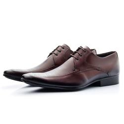 Sapato Social Com Cadarço Solado De Borracha Mouro - Top Franca Shoes | Calçados confortáveis em Couro