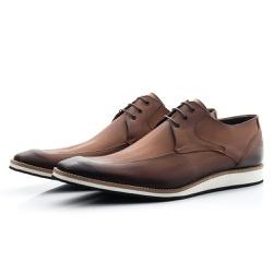 Sapato Derby Masculino Casual Estonado De Amarrar - Top Franca Shoes   Calçados confortáveis em Couro
