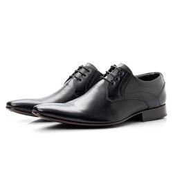 Sapato Social De Amarrar Bico Fino Solado De Couro - Top Franca Shoes   Calçados confortáveis em Couro