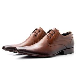 Sapato Clássico De Amarrar Bico Fino Com Solado De... - Top Franca Shoes | Calçados confortáveis em Couro