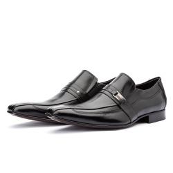 Sapato Social Estilo Italiano Bico Fino Solado Cou... - Top Franca Shoes | Calçados confortáveis em Couro