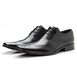 Sapato Brogue Masculino De Amarrar Preto Solado Em... - Top Franca Shoes | Calçados confortáveis em Couro
