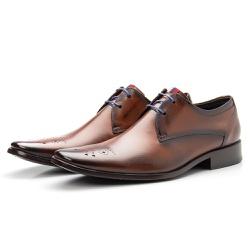 Sapato Brogue Masculino De Amarrar Orange Solado E... - Top Franca Shoes | Calçados confortáveis em Couro
