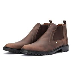 Bota Chelsea Casual Masculina 705 Crazy Horse Café - Top Franca Shoes | Calçados confortáveis em Couro
