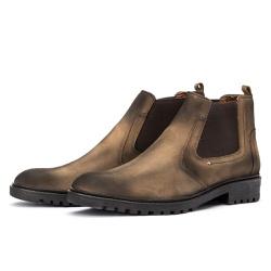 Bota Chelsea Casual Masculina 705 Nobuck Rato - Top Franca Shoes | Calçados confortáveis em Couro