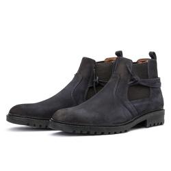 Bota Chelsea Casual Masculina 708 Nobuck Petróleo - Top Franca Shoes | Calçados confortáveis em Couro