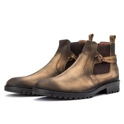 Bota Chelsea Casual Masculina 708 Nobuck Rato - Top Franca Shoes | Calçados confortáveis em Couro