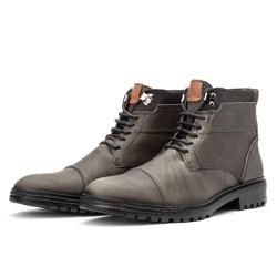 Bota Coturno Casual Masculino 709 Arizona Onix - Top Franca Shoes | Calçados confortáveis em Couro