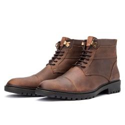 Bota Coturno Casual Masculino 709 Arizona Taupe - Top Franca Shoes | Calçados confortáveis em Couro