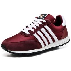 Tênis Sport Fit Top Franca Shoes Vinho - Top Franca Shoes | Calçados confortáveis em Couro