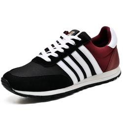 Tênis Sport Fit Top Franca Shoes Preto e Vinho - Top Franca Shoes | Calçados confortáveis em Couro