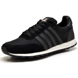 Tênis Sport Fit Top Franca Shoes Preto - Top Franca Shoes | Calçados confortáveis em Couro