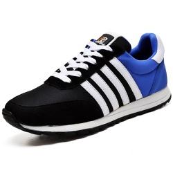 Tênis Sport Fit Top Franca Shoes Preto e Azul - Diconfort Calçados | Calçados confortáveis e anatômicos