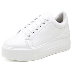 Tênis Feminino Top Franca Shoes Sola Alta Branco - Diconfort Calçados | Calçados confortáveis e anatômicos