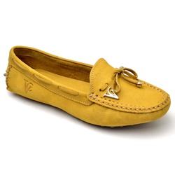 Mocassim Drive Sapatilha Feminina Via Confort Cour... - Top Franca Shoes | Calçados confortáveis em Couro