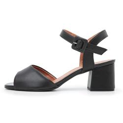 Sandália Feminina Salto Medio Top Franca Shoes Pre... - Top Franca Shoes   Calçados confortáveis em Couro