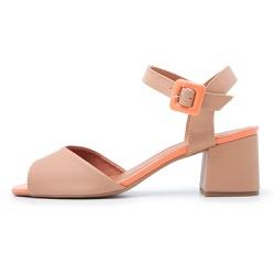 Sandália Feminina Salto Medio Top Franca Shoes Nud... - Diconfort Calçados | Calçados confortáveis e anatômicos