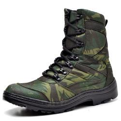 Bota Coturno Militar Tatico Top Franca Shoes Camuf... - Top Franca Shoes | Calçados confortáveis em Couro