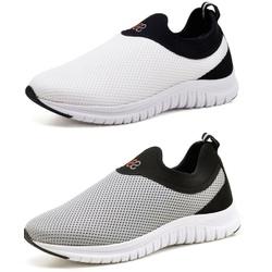 Kit 2 Tênis Masculino Esporte Fit Snap Shoes Branc... - Top Franca Shoes | Calçados confortáveis em Couro
