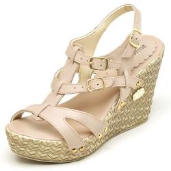 Sandália Feminina Betina Beker Plataforma AnaBela ... - Top Franca Shoes | Calçados confortáveis em Couro