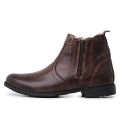 Bota Botina Top Franca Shoes Cafe - Top Franca Shoes | Calçados confortáveis em Couro
