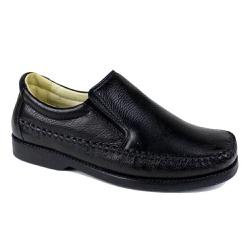 Sapato Mocassim Masculino Couro Legítimo Preto