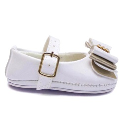 Sandália Infantil Bebê Laço Branco - Torani Calçados