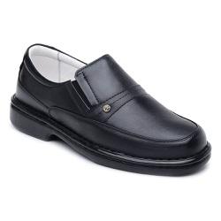 Sapato Casual Confortável Couro Legítimo Preto - Torani Calçados
