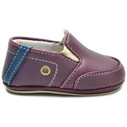 Sapato Mocassim Bordô Infantil Bebê - Torani Calçados