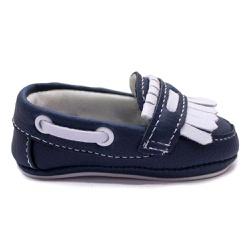 Sapato Mocassim Infantil Bebê Azul