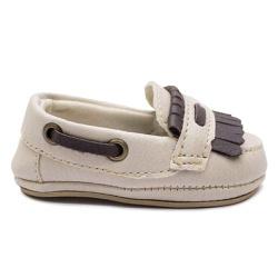 Sapato Mocassim Infantil Bebê Bege - Torani Calçados