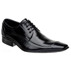 Sapato Social Cadarço Couro Legítimo Preto