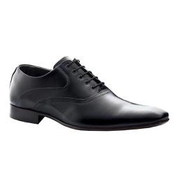 Sapato Social Masculino Cadarço Couro Preto