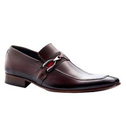 Sapato Social Masculino Couro Legítimo Marrom