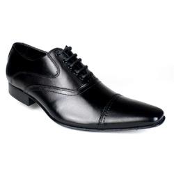 Sapato Social Oxford Masculino Couro Legítimo Sola de Couro