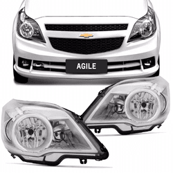 Farol Agile/Montana 2010 a 2013 Cromado - Total Latas - A loja online do seu automóvel