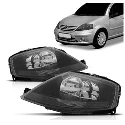 Farol Citroen C3 2003 a 2012 Mascara Negra - Total Latas - A loja online do seu automóvel