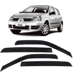 Calha de Chuva Clio 1999 a 2012 4 Portas Fumê Jg - Total Latas - A loja online do seu automóvel
