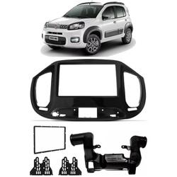 Moldura DVD 2 Din Uno 2015 a 2020 C/ Duto Ar (Blac... - Total Latas - A loja online do seu automóvel