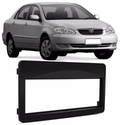 Moldura DVD 1 Din Corolla 2003 a 2006 (Preto) - Total Latas - A loja online do seu automóvel