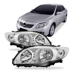 Farol Corolla 2009 a 2011 Cromado - Total Latas - A loja online do seu automóvel