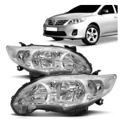 Farol Corolla 2012 a 2014 Cromado - Total Latas - A loja online do seu automóvel