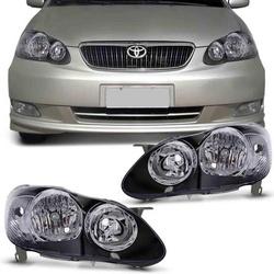 Farol Corolla & Fielder 2005 a 2008 Máscara Preta - Total Latas - A loja online do seu automóvel