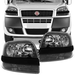 Farol Doblo 2002 a 2009 Com Auxiliar Máscara Preta... - Total Latas - A loja online do seu automóvel