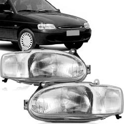Farol Escort Zeteck 1997 a 2003 Carcaça Cinza - Total Latas - A loja online do seu automóvel