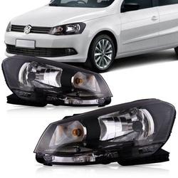 Farol Gol/ Voyage/ Saveiro G6 Simples Máscara Pret... - Total Latas - A loja online do seu automóvel